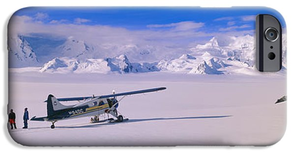 Mountain iPhone Cases - Scout Bush Airplane, Wrangell-st. Elias iPhone Case by Panoramic Images