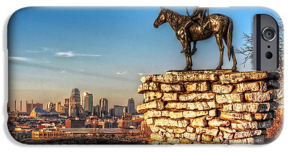 Skylines Pyrography iPhone Cases - Scout iPhone Case by Corey Cassaw