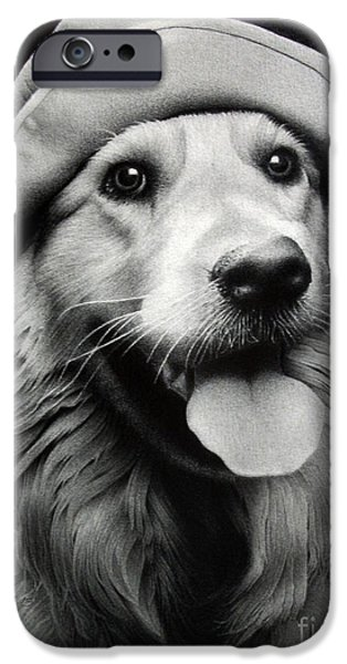 Animal Drawings iPhone Cases - Scout iPhone Case by Miro Gradinscak