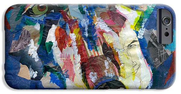 Multimedia Mixed Media iPhone Cases - Scraps of Survival iPhone Case by Lovejoy Creations