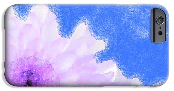 Discrimination Digital iPhone Cases - Scream and Shout Purple White Blue iPhone Case by Holley Jacobs