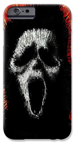 Prescott Digital iPhone Cases - Scream iPhone Case by Brett Sixtysix