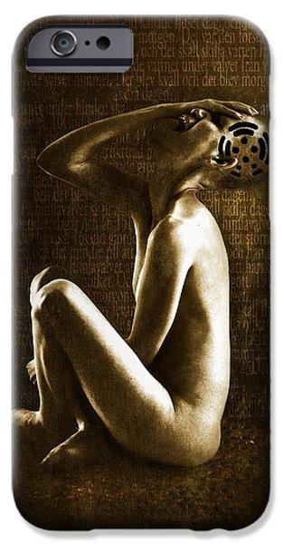 Anguish iPhone Cases - Scream iPhone Case by Johan Lilja