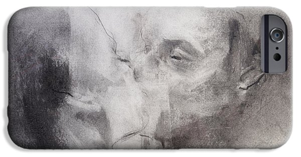 Eerie Pastels iPhone Cases - Screen Kiss iPhone Case by Janet Goddard