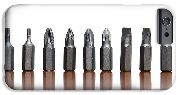 Work Tool Photographs iPhone Cases - Screwdrivers iPhone Case by Sinisa Botas