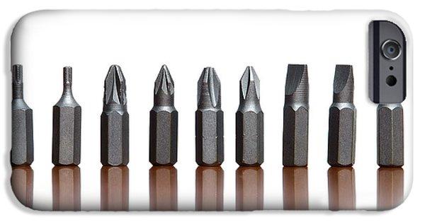 Repairman iPhone Cases - Screwdrivers iPhone Case by Sinisa Botas