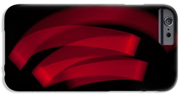 Recently Sold -  - Painter Photographs iPhone Cases - Ribbon Lightpaintings - Red I iPhone Case by Dave Markman