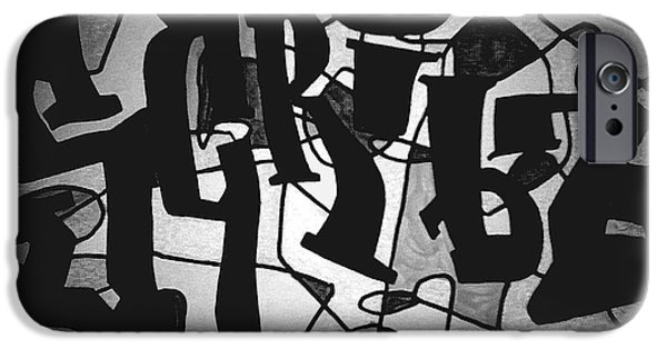 Obama Drawings iPhone Cases - Scribz Nyc Empire Bw iPhone Case by Rick Burgunder