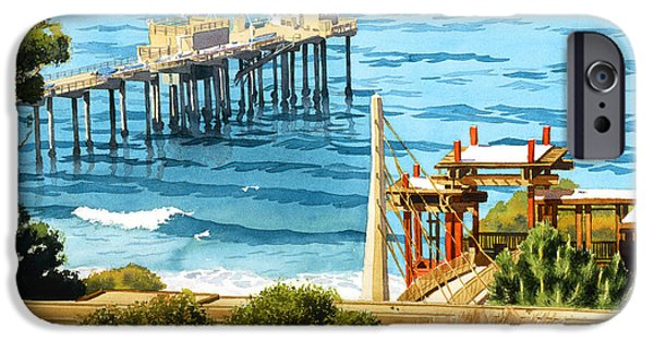 Maritime iPhone Cases - Scripps Pier La Jolla iPhone Case by Mary Helmreich