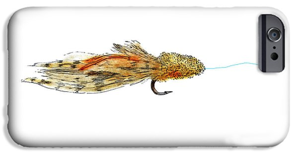 Fishing Pastels iPhone Cases - Sculpin Fly iPhone Case by Tim Shoales