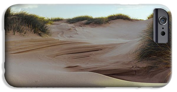 Sand Dunes iPhone Cases - Sculpted Dunes At The Sands Of Forvie iPhone Case by Panoramic Images