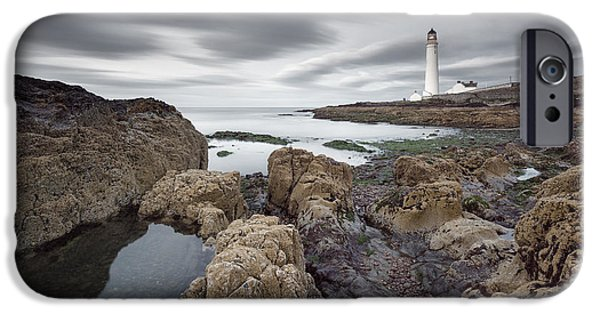 North Sea iPhone Cases - Scurdie Ness 1 iPhone Case by Dave Bowman