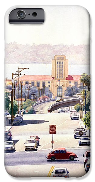 City Scene iPhone Cases - SD County Administration Building iPhone Case by Mary Helmreich