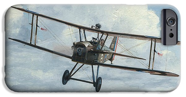 Aviator iPhone Cases - SE5a 1918 iPhone Case by Wade Meyers