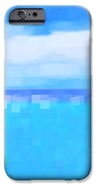 Sea and Sky Abstract iPhone Case by Natalie Kinnear