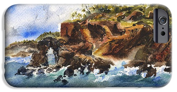 Michael Paintings iPhone Cases - Sea Arch iPhone Case by Michael Donenfeld