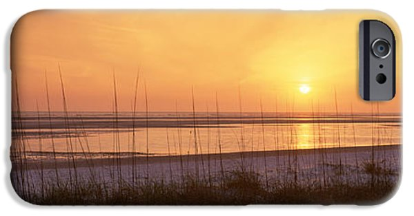 North Sea iPhone Cases - Sea At Dusk, Gulf Of Mexico, Tigertail iPhone Case by Panoramic Images