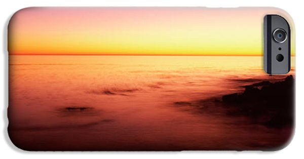 Point Lobos State iPhone Cases - Sea At Sunset, Point Lobos State iPhone Case by Panoramic Images