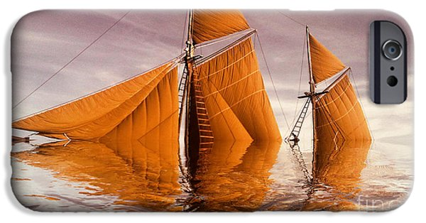 Variant iPhone Cases - Sea Boat Collections - Naufrage  c02 iPhone Case by Variance Collections