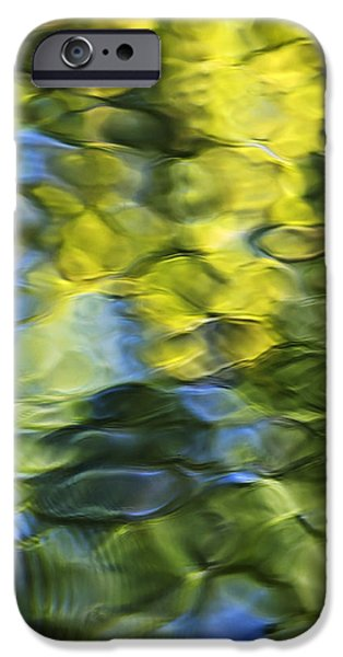Nature Abstracts iPhone Cases - Sea Breeze Mosaic Abstract Art iPhone Case by Christina Rollo