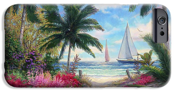 Path iPhone Cases - Sea Breeze Trail iPhone Case by Chuck Pinson