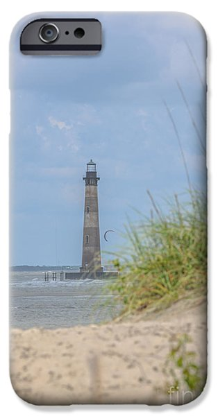Lighthouse iPhone Cases - Sea Dog View iPhone Case by Dale Powell