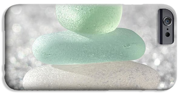 Beach Glass iPhone Cases - Sea Foam Beach Glass iPhone Case by Barbara McMahon
