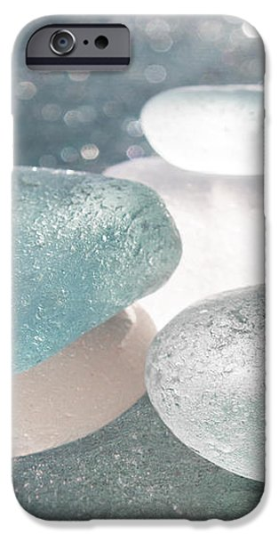 Sea Glass Aqua Shimmer iPhone Case by Barbara McMahon