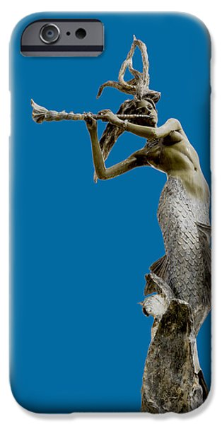 Beach Sculptures iPhone Cases - Sea Goddess iPhone Case by David Millenheft
