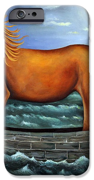 Sea Lion bolder image iPhone Case by Leah Saulnier The Painting Maniac