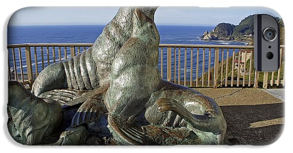 Ocean Mammals iPhone Cases - Sea Lion Caves - Oregon iPhone Case by Daniel Hagerman
