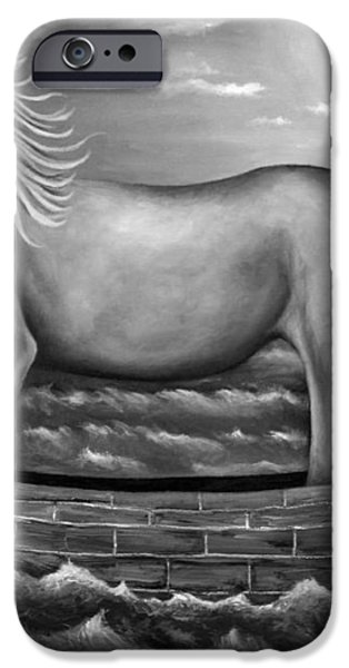 Sea Lion in bw iPhone Case by Leah Saulnier The Painting Maniac