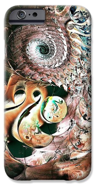 Abstract Forms Mixed Media iPhone Cases - Sea Monster iPhone Case by Anastasiya Malakhova