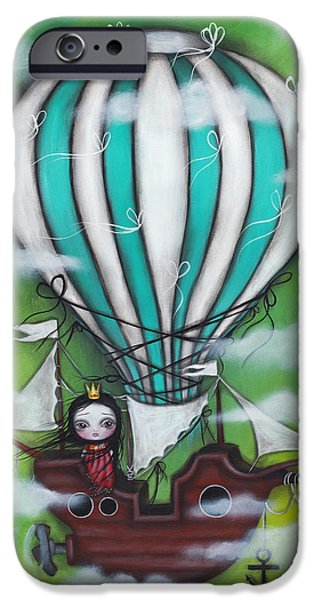 Hot Air Balloon iPhone Cases - Sea of Clouds iPhone Case by  Abril Andrade Griffith