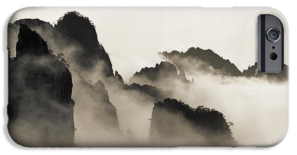 Fog Mist Photographs iPhone Cases - Sea of Clouds iPhone Case by King Wu