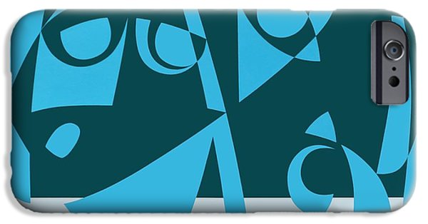 Sea iPhone Cases - Sea Of Faith, 1999 Acrylic On Board iPhone Case by Ron Waddams