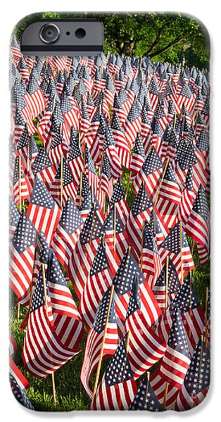 City. Boston iPhone Cases - Sea of Flags iPhone Case by Inge Johnsson