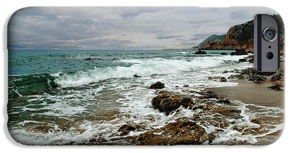 Ocean Pyrography iPhone Cases - Sea Shore iPhone Case by Jelena Jovanovic