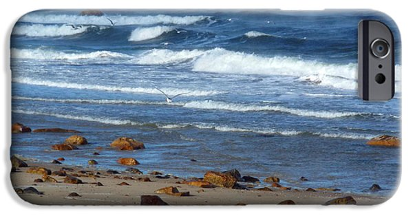 Harbor Sesuit Harbor iPhone Cases - Sea Smoke on Cape Cod Bay iPhone Case by Dianne Cowen