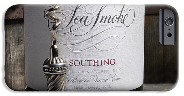 Red Wine iPhone Cases - Sea Smoke on Silver Oak iPhone Case by Jon Neidert