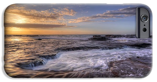 Turbulent Skies iPhone Cases - Sea Spa - Coledale iPhone Case by Leah-Anne Thompson