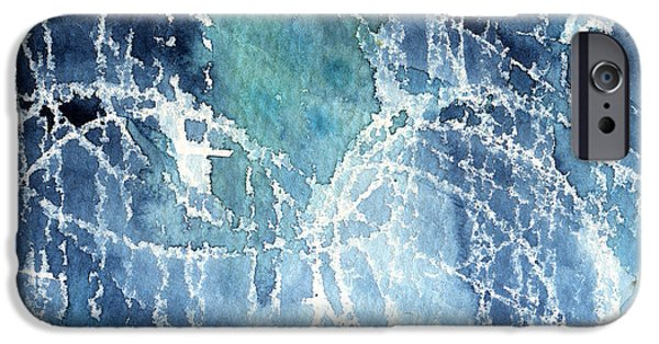 Sea Mixed Media iPhone Cases - Sea Spray iPhone Case by Linda Woods