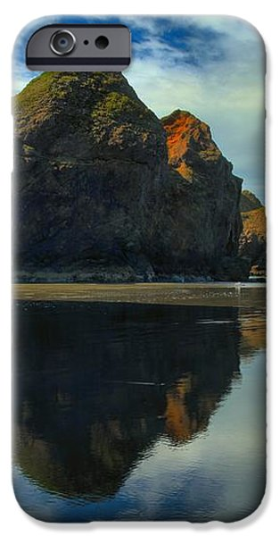 Sea Stack Swirls iPhone Case by Adam Jewell