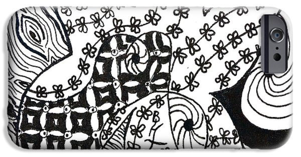 Plum Drawings iPhone Cases - Sea Star iPhone Case by Beverley Harper Tinsley
