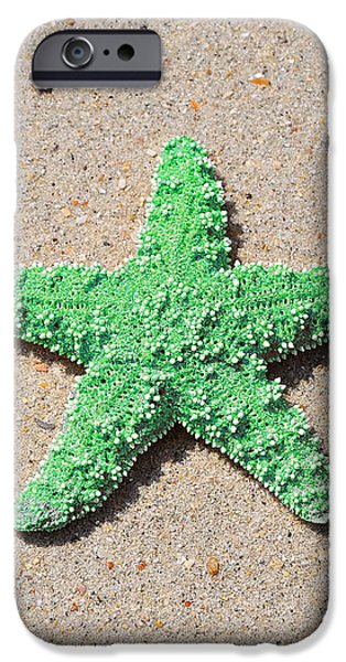 Sea Star - Green iPhone Case by Al Powell Photography USA