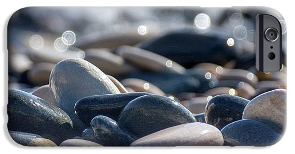 Nature Abstract iPhone Cases - Sea Stones  iPhone Case by Stylianos Kleanthous