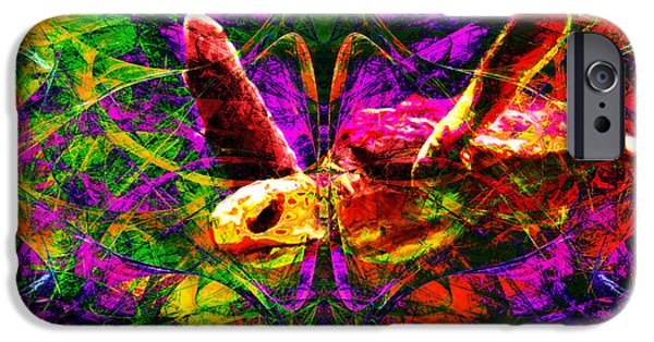 Reptiles Digital iPhone Cases - Sea Turtle In Abstract v1 iPhone Case by Wingsdomain Art and Photography