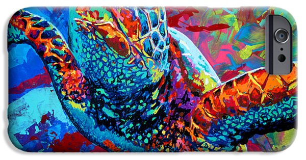 Amphibian iPhone Cases - Sea Turtle iPhone Case by Maria Arango