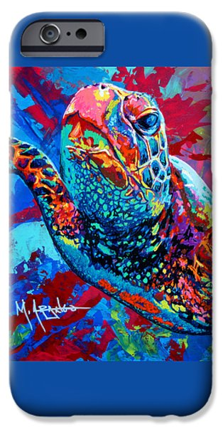 Ocean Turtle Paintings iPhone Cases - Sea Turtle iPhone Case by Maria Arango