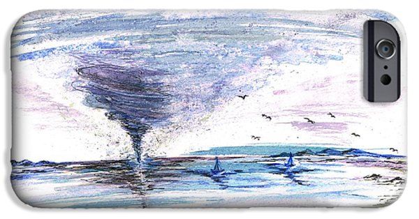Flies Mixed Media iPhone Cases - Sea Twister iPhone Case by Teresa White